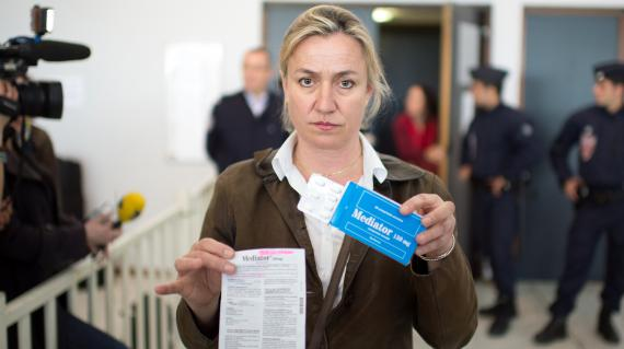 Le docteur Irène Frachon, pneumologue qui a révélé le scandale du Mediator, le 14 mai 2012 à Nanterre (Hauts-de-Seine).