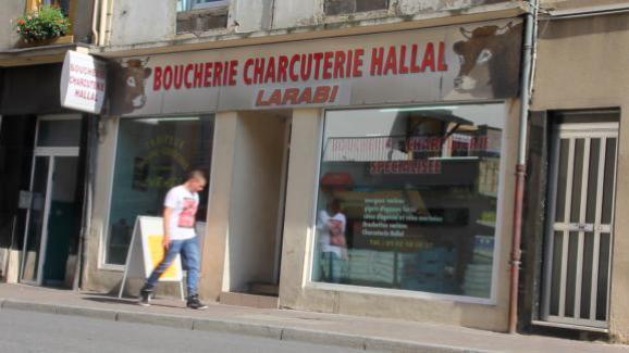 La boucherie halal Larabi, le 3 septembre 2014, à Hayange (Moselle).