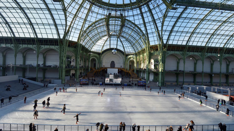 VIDEO La Plus Grande Patinoire Du Monde Au Grand Palais