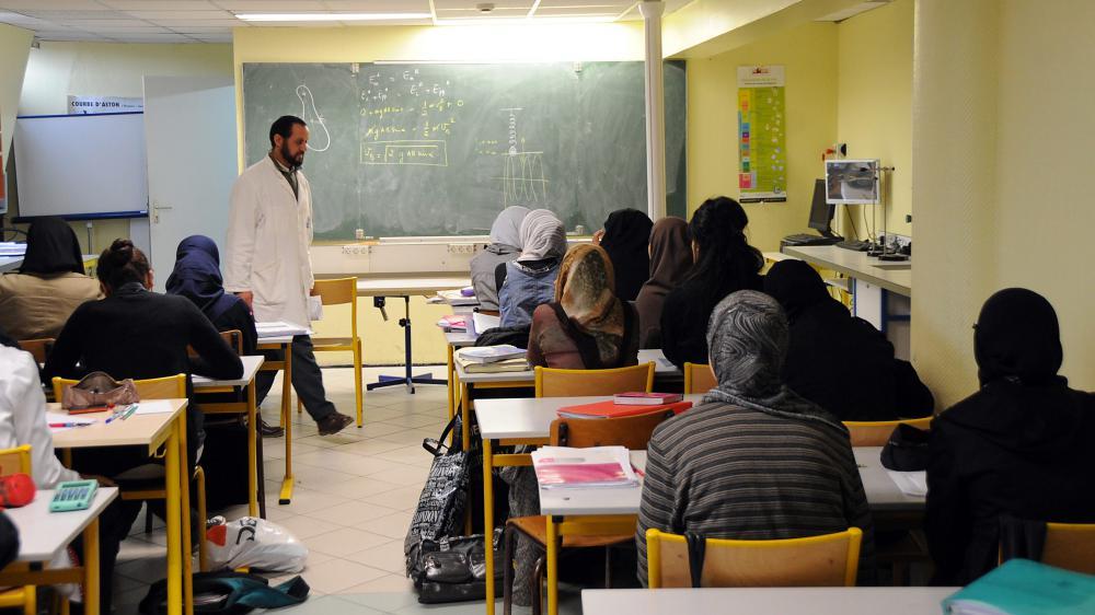 Dans le lycée privé musulman Averroès, à Lille (Nord), le 16 avril 2009.