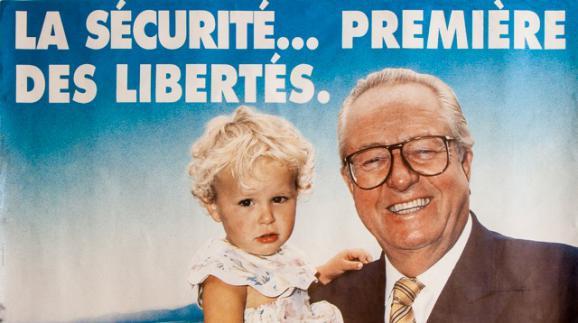 Affiche de campagne de Jean-Marie Le Pen pour les régionales en Paca, en 1992.