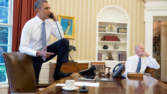 Barack Obama, dans son bureau à la Maison blanche, le 4 septembre 2013.