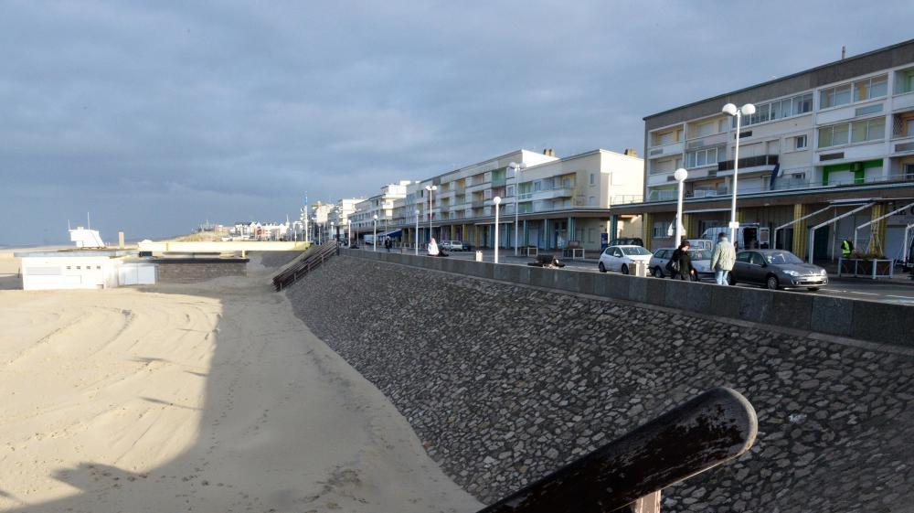 Christelle Blondel parcourt chaque jour 24 km, entre Berck-sur-Mer (ici en photo), et Merlimont-plage (Pas-de-Calais).