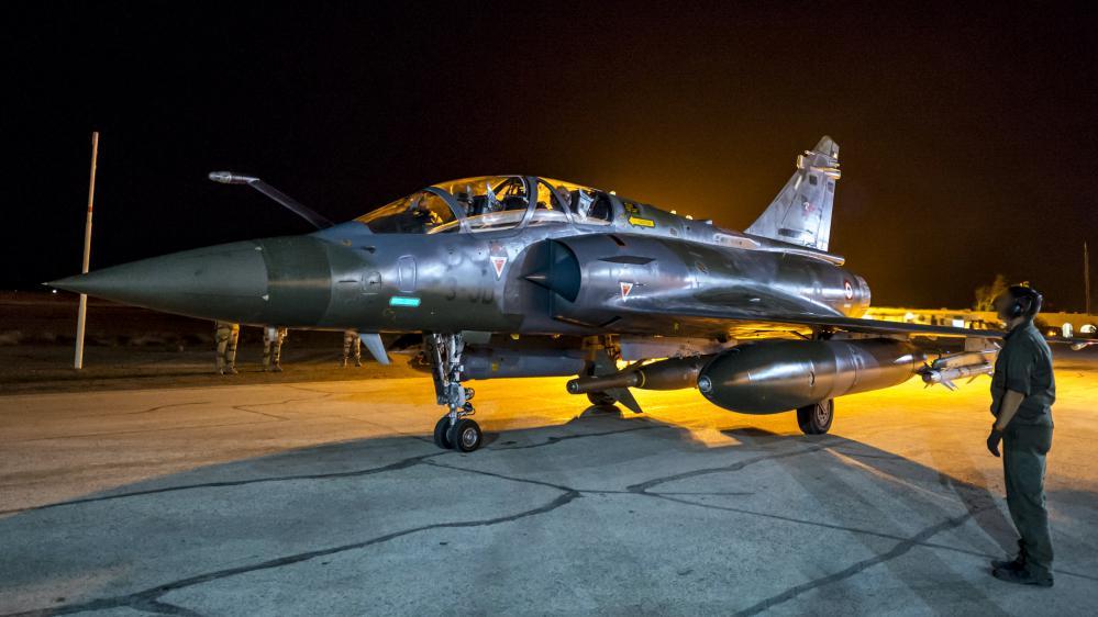 Un Miragede l'armée française engagé dans les opérations en Syrie, le 9 novembre 2015.