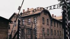 L'entrée ducamp d'extermination d'Auschwitz-Birkenau, le 3 octobre 2015, en Pologne.