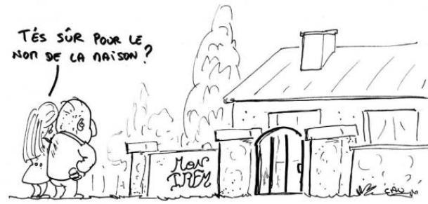 """L'une des caricaturesdu guide de """"mauvaise conduite"""" édité par l'association pour une démocratie directe."""