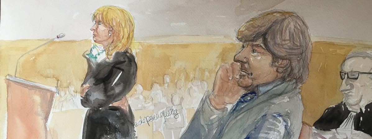 Nicole et Michel Neyret, le 2 mai 2016, devant le tribunal correctionnel de Paris.