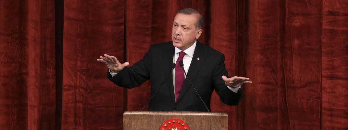 Le président Erdogan à Ankara, le 29 juillet 2016.