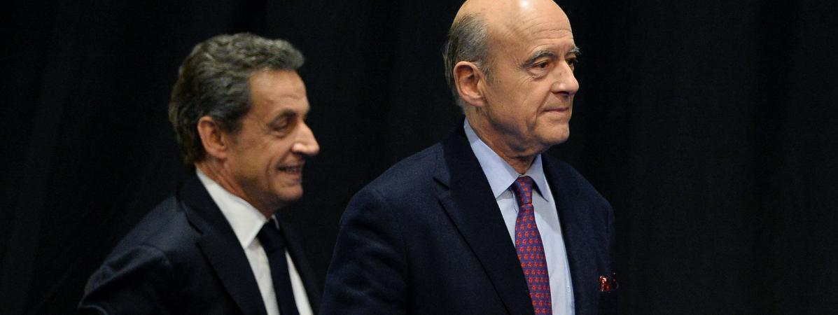 Nicolas Sarkozy et alain Juppé, le 14 octobre 2015