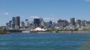 La skyline de l'île de Montréal