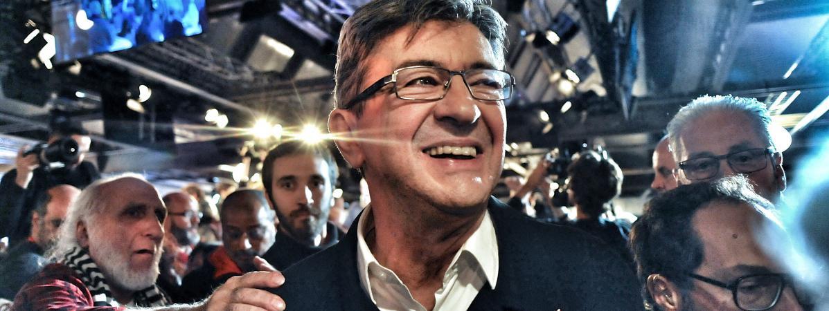 Jean-Luc Mélenchon, lors de la convention de son mouvement La France insoumise à Lille, le 16 octobre 2016.