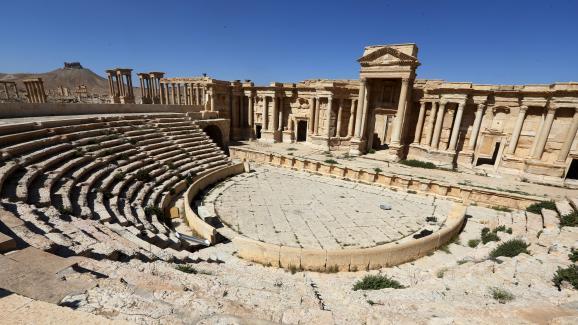 Le théâtredela cité antique de Palmyre (Syrie), photographié le 31 mars 2016.