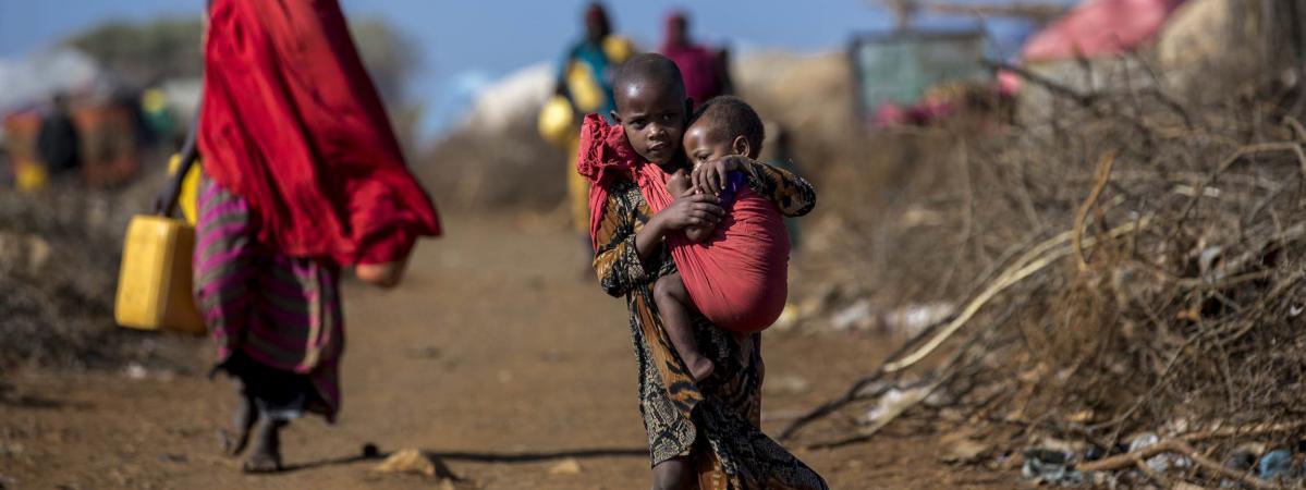 Des Somaliens dans un camp de réfugiés, le 29 mars 2017.