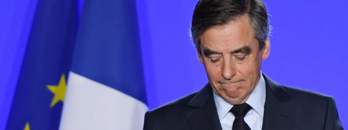 Le candidat Les Républicains, François Fillon, le 1er mars 2017 à Paris.