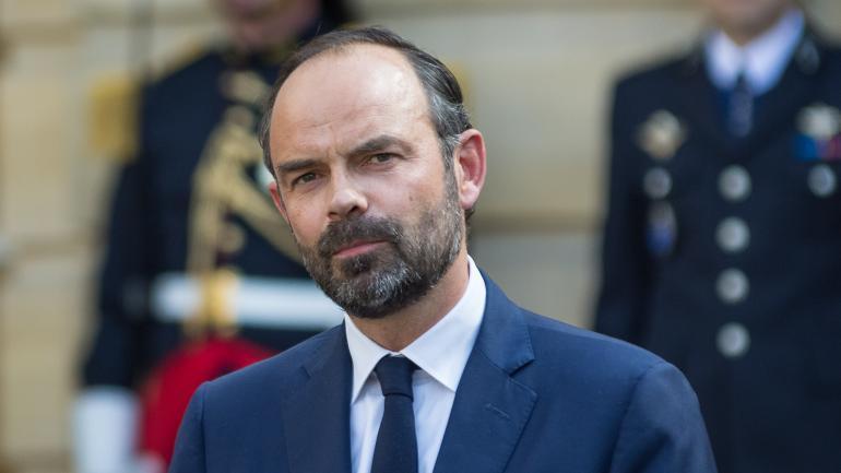 Edouard Philippe, lors de la passation de pouvoir à Matignon, à Paris, le 15 mai 2017.