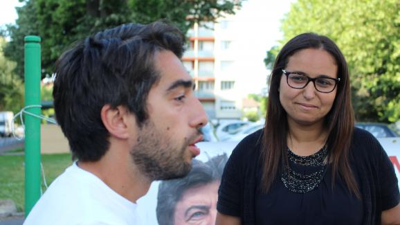 Ulysse Rabaté et Farida Amrani à Corbeille-Essonnes (Essonne), le 30 mai 2017.