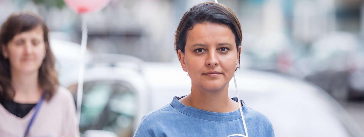 Najat Vallaud-Belkacem, le 3 juin 2017 à Villeurbanne (Rhône).