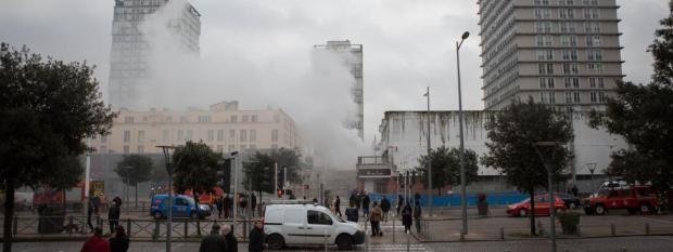 L'incendie s'est déclaré dans des box au sous-sol d'un immeuble de Choisy-le-Roi (Val-de-Marne), le 10 janvier 2018.