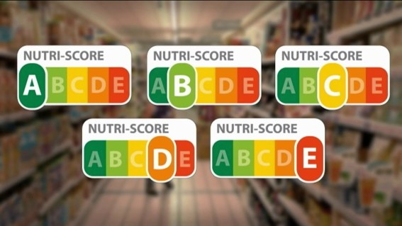 Les vignettes Nutri-Score classent les aliments en cinq catégories.