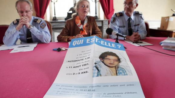 Un appel à témoins de la petite inconnue de l\'A10, le 24 septembre 2012, à Blois (Loir-et-Cher).