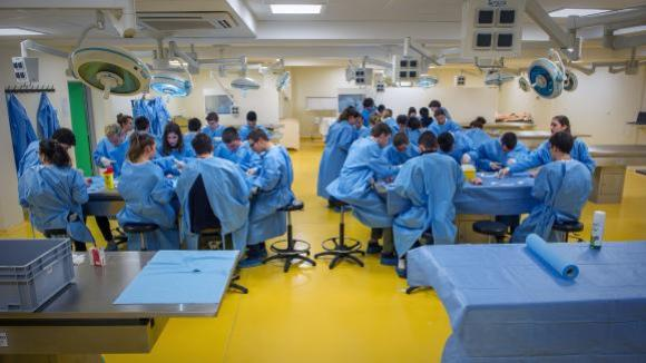 Des étudiants en médecinede l'Université de Poitiers, le 4 février 2016.