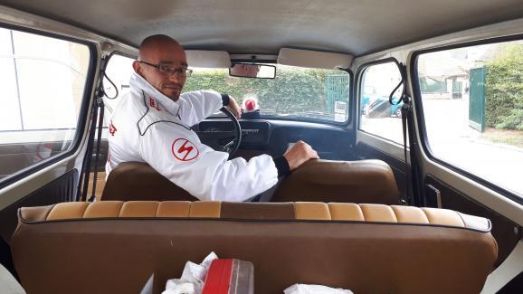 Frédéric Juan a acheté sa Trabant 2400 euros. Il a dépensé 4 500 euros pour la rénover.
