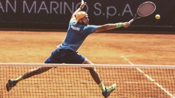 Le tennisman saint-marinais Marco de Rossi.