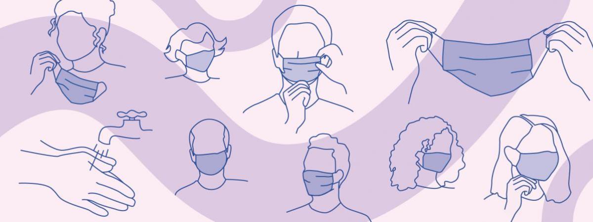 Il est notamment recommandé de bien se laver les mains avant toute manipulation du masque.