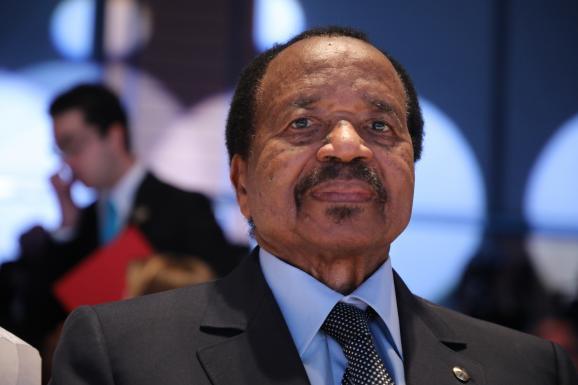 Le président du Cameroun, Paul Biya (87 ans),au pouvoir depuis 1982. Photo prise à Lyon le 10 octobre 2019.
