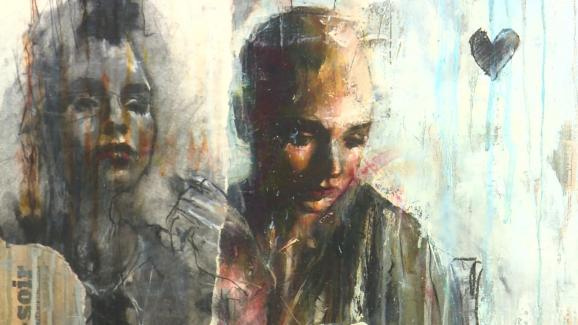 In addition to the recreation of the Tower 13 apartment, the exhibition offers a retrospective of Guy Denning's career through 26 works.