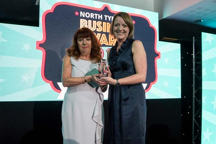New Business Award Carole White TEDCO with Helen Ross Bright and Beautiful North Tyneside