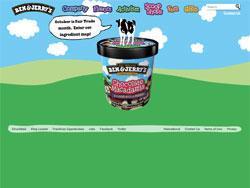 Ben and Jerry's website