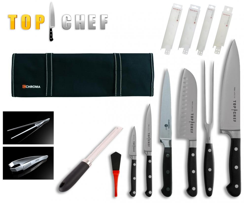 mallette complete de couteaux top chef 14 pieces