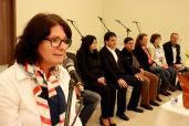 A secretária de Assistência Social, Ana Lúcia Manfrói, durante seu pronunciamento no encontro