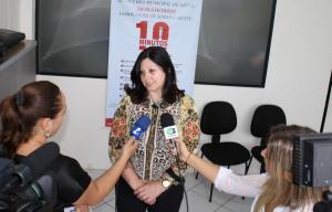Secretária Rose Mari Guarda em entrevista à imprensa: campanha visa tornar vitorias uma rotina dos moradores