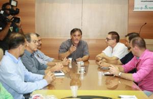 Com a imprensa, Scirea e organizadores da feira avaliaram os pontos fortes da Expobel