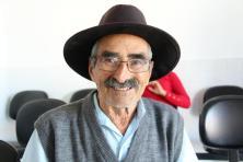 Seu Lauriano Vieira, de 82 anos, gostou da reforma na UBS do Pinheirão