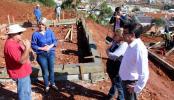 Prefeito Cantelmo Neto visitou o local das obras para agradecer o trabalho dos voluntários