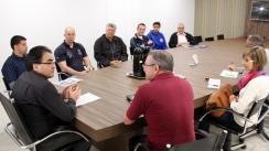 Prefeito Cantelmo Neto se reuniu com as secretarias municipal e estadual de Esportes e NRE para tratar da fase final dos JAPs, que acontece em Beltrão