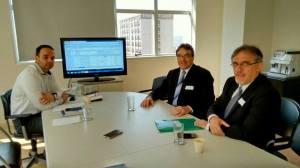 Prefeito Cantelmo Neto e o vice Eduardo Scirea se reuniram com a assessoria do Sistema Integrado de Monitoramento, Execução e Controle do Ministério da Educação
