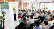 Secretária Jovelina Chaves comandou o evento que reuniu parceiros do Centro Empresarial para celebrar os bons resultados do ano