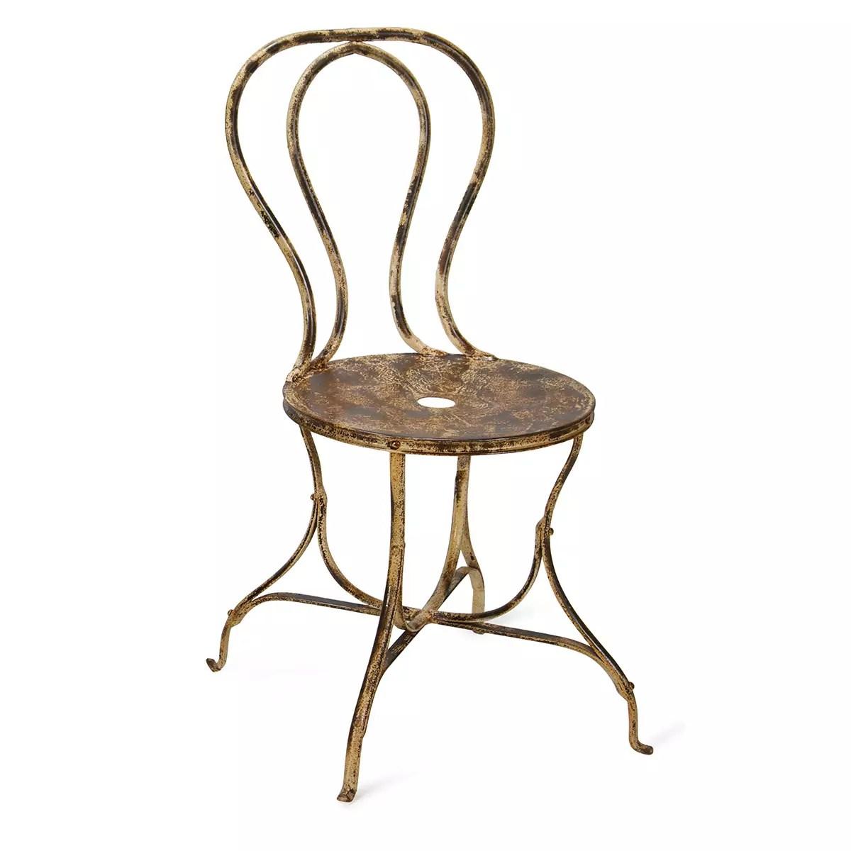 chaise en fer forge vintage pour