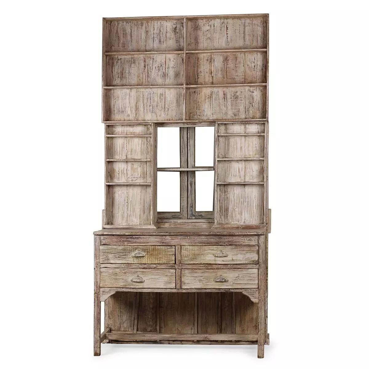 grand meuble de magasin en bois decape