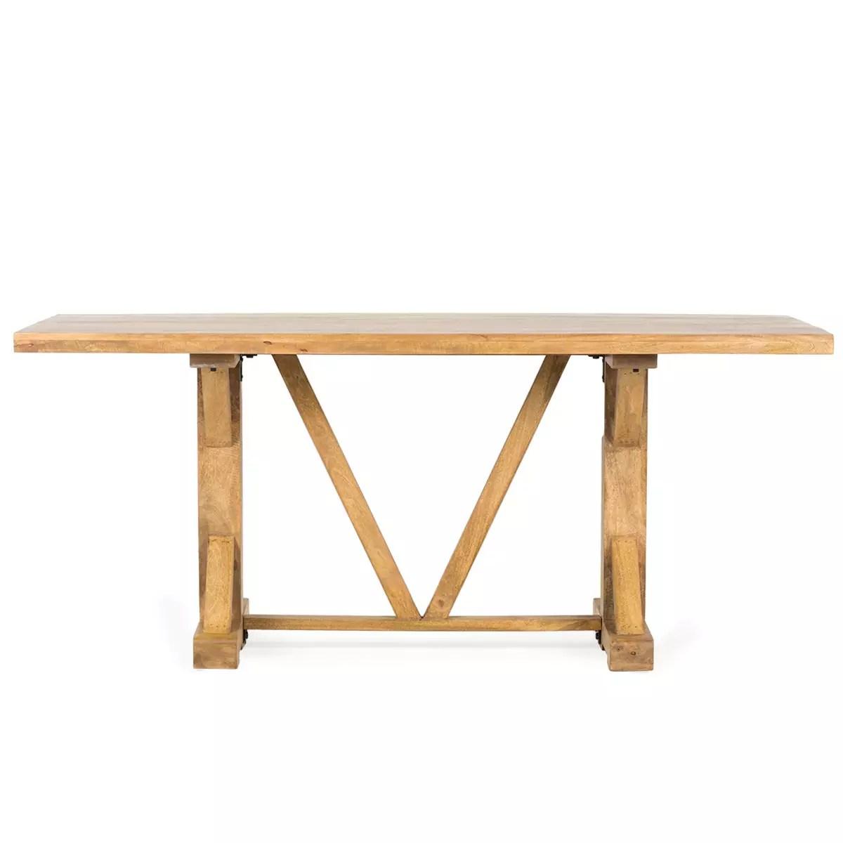 table rectangulaire en bois pour
