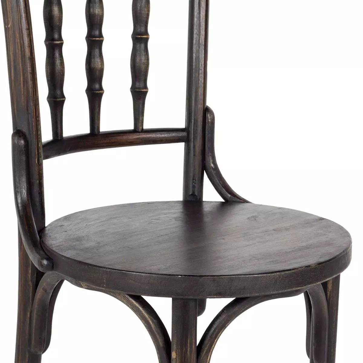 chaises bistro vintage fabriquees en