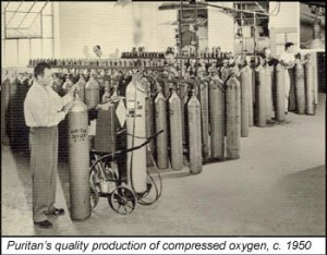 Puritan compressed oxygen