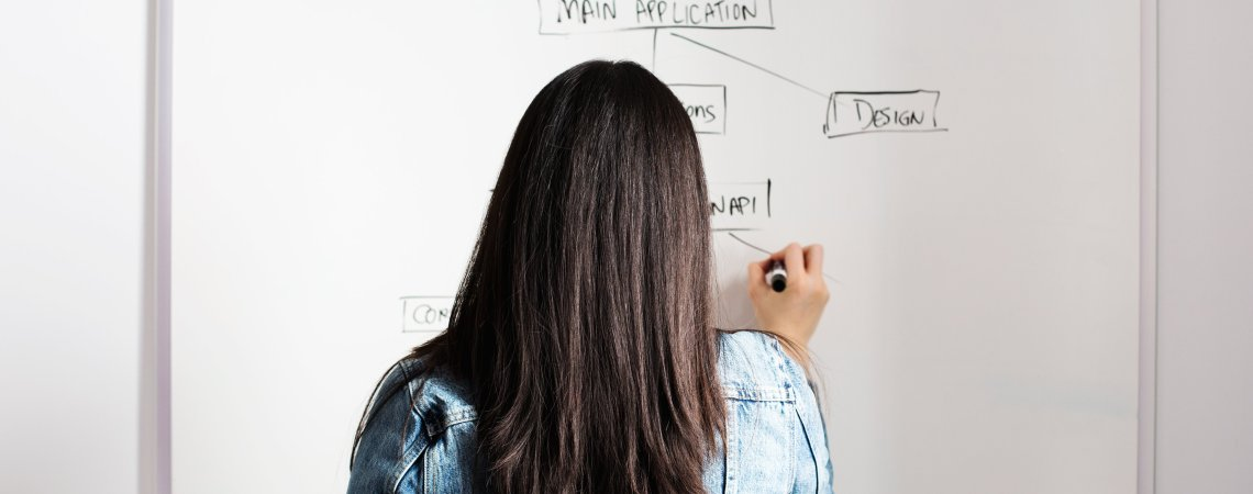 writing on a white board