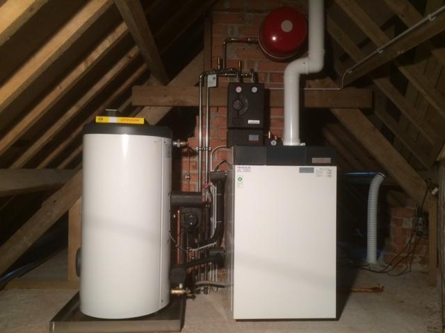 Mazout condensatieketel met boiler