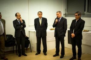 Le sénateur Franck Montaugé le 19 décembre 2014, lors de la visite de l'entreprise Eforsa, à Auch.