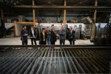 Visite de l'entreprise Erme en présence de Francis Dupouey, vice-président du conseil départemental du Gers et de Michèle Cousse, maire de Montégut-sur-Arros. ©franckmontauge.fr